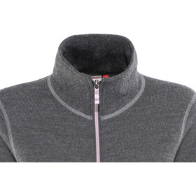 Woolpower Unisex 400 Full Zip Jacket Colour Collection grey/rose